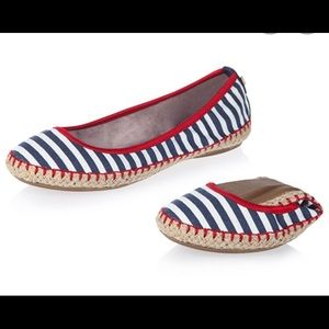 Butterfly Twist Red White & Blue Ballerina Flats